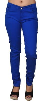 Coaster Skinny Fit Women's Blue Trousers