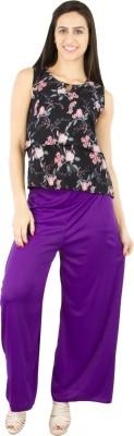Fashion Flow+ Regular Fit Women's Purple Trousers