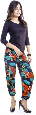 Cotton Flake Regular Fit Women's Multicolor Trousers