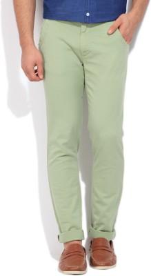 WROGN Slim Fit Men's Green Trousers