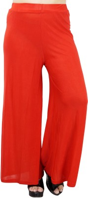 Urban Chic Regular Fit Women,s Red Trousers
