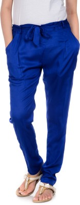 House of Tantrums Slim Fit Women,s Blue Trousers