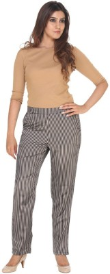 Fast n Fashion Regular Fit Women's Brown Trousers at flipkart