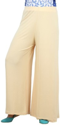 Rooliums Regular Fit Womens Cream Trousers