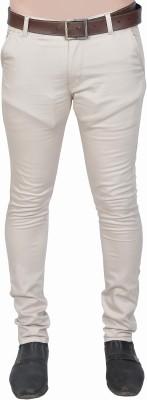 Nifty Slim Fit Men's Beige Trousers