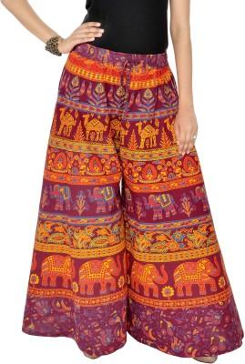 Jaipuri Bandhej Regular Fit Girl's Maroon Trousers