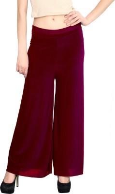 ELVIN Regular Fit Women's Maroon Trousers