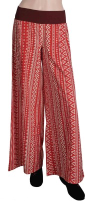True Fashion Regular Fit Women's Red Trousers