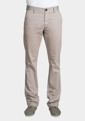 Bhane Slim Fit Men's Beige Trousers