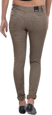 Devis Slim Fit Women's Brown Trousers