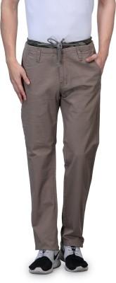 Wear Your Mind Slim Fit Men's Grey Trousers