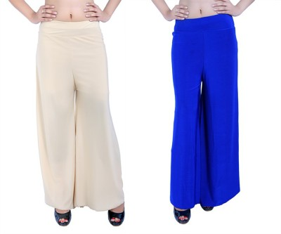 Ajaero Regular Fit Women's Gold, Blue Trousers