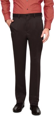 Van Heusen Regular Fit Men's Brown Trousers