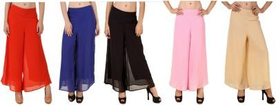 CHIKFAB Regular Fit Women's Blue, Black, Pink, Orange, Beige Trousers
