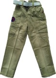 Kidicious Slim Fit Boys Green Trousers