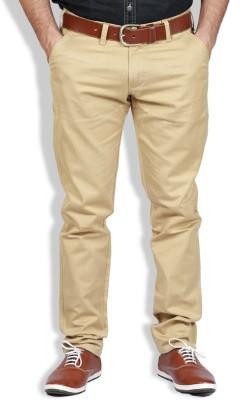 Goswhit Slim Fit Men's Beige Trousers
