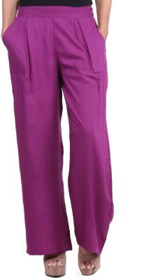 JaipurKurti Regular Fit Women's Purple Trousers