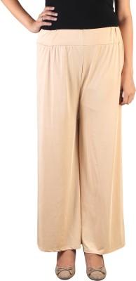 indian street fashion Regular Fit Women's Beige Trousers