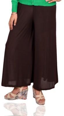 Vama Regular Fit Women's Brown Trousers