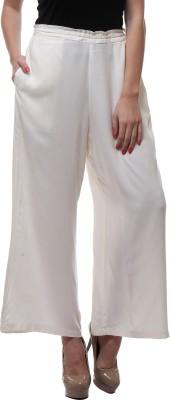 We Desi Regular Fit Women's White Trousers