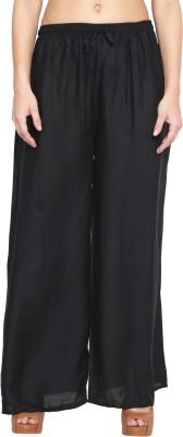 Both11 Regular Fit Women's Black Trousers
