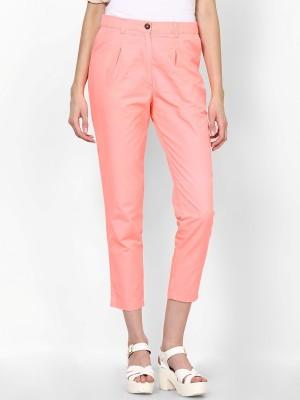 La Rochelle Regular Fit Women's Orange Trousers