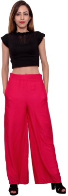 MSONS Regular Fit Women's Pink Trousers