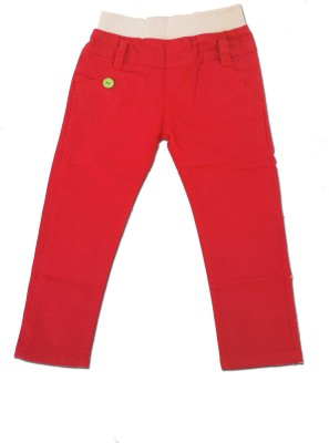 Kuddle Kid Regular Fit Boy's Red Trousers