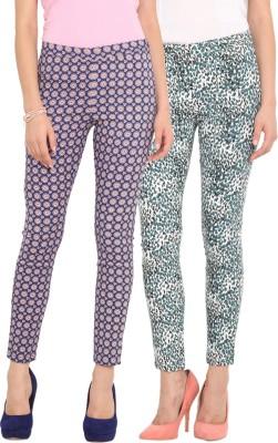 Ama Bella Regular Fit Women's Multicolor Trousers