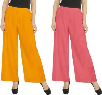 Civilized Showdown Regular Fit Women's Orange, Pink Trousers