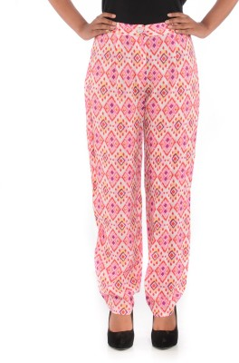House of Tantrums Regular Fit Women,s Pink Trousers