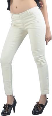 Klouden Skinny Fit Women's Beige Trousers