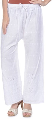 Aarushi Fashion Regular Fit Women's White Trousers