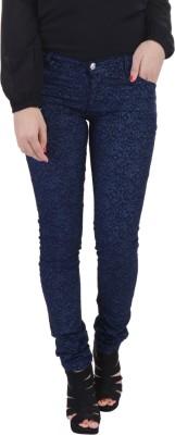 Jheel Slim Fit Women's Blue Trousers