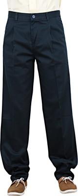 Maharaja Regular Fit Men,s Blue Trousers