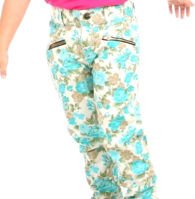 Cherry Crumble California Regular Fit Baby Girl's Light Green Trousers