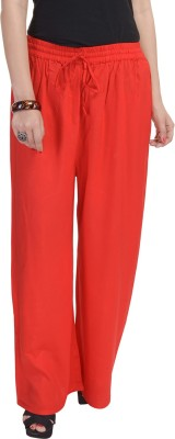 BANNO Regular Fit Women's Red Trousers
