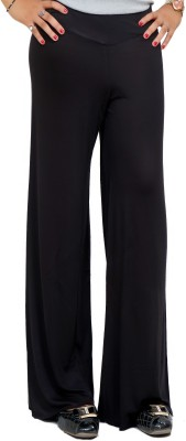 Lady in Red Regular Fit Women's Black Trousers
