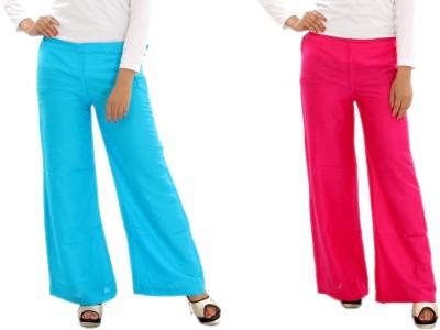 MountainColours Regular Fit Women's Light Blue, Pink Trousers