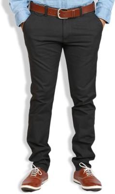 Goswhit Slim Fit Men's Grey Trousers