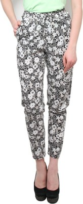 XnY Regular Fit Women's Black, White Trousers