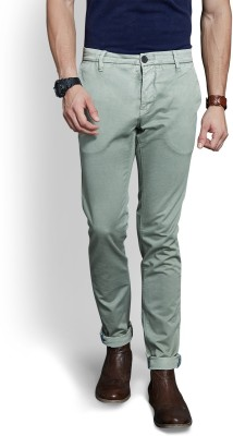 Route 66 Slim Fit Men's Green Trousers