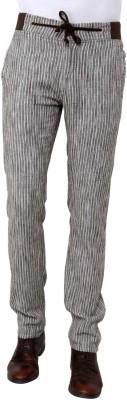 Wear Your Mind Slim Fit Men's Linen Multicolor Trousers