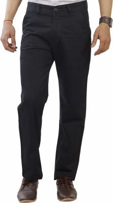 Devis Regular Fit Men's Black Trousers