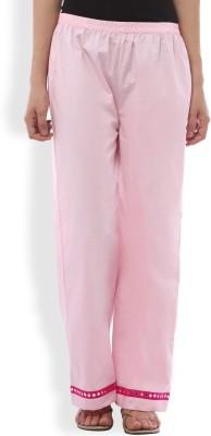 Ten on Ten Slim Fit Women's Pink Trousers