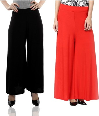 Komal Trading Co Regular Fit Women's Black, Red Trousers