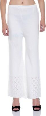 Tab91 Regular Fit Women's White Trousers