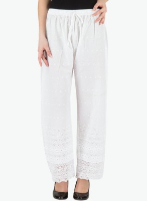 T Global Regular Fit Women's White Trousers