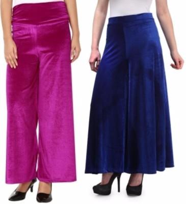 Viba London Regular Fit Women's Pink, Blue Trousers