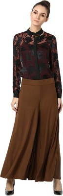 Castle Regular Fit Women's Brown Trousers